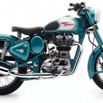 Royal Enfield Classic 500 side press shot