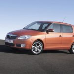 Skoda Fabia hatchback front three quarter press shot