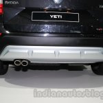 Skoda Yeti facelift rear skid plate at Auto Expo 2014