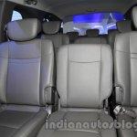 Ssangyong Rodius rear seat at Auto Expo 2014