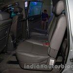 Ssangyong Rodius rear seat legroom at Auto Expo 2014