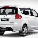 Suzuki Ertiga Sporty launched Indonesia rear quarter press