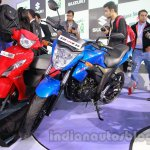 Suzuki Gixxer front three quarters at Auto Expo 2014