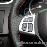 Suzuki Swift Sport audio volume buttons on the steering wheel at Auto Expo 2014