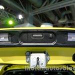 Suzuki Swift Sport hatch locking mechanism at Auto Expo 2014