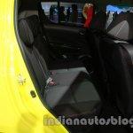 Suzuki Swift Sport rear seat knee room at Auto Expo 2014