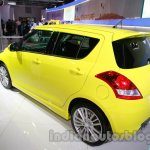Suzuki Swift Sport rear three quarters left at Auto Expo 2014