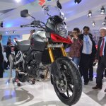 Suzuki V-Strom 1000 ABS front three quarters left from Auto Expo 2014