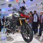Suzuki V-Strom 1000 ABS front three quarters left from Auto Expo 2014