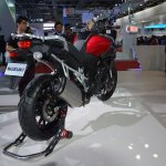 Suzuki V-Strom 1000 ABS rear three quarters right from Auto Expo 2014