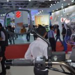 Suzuki V-Strom 1000 ABS rear view mirror from Auto Expo 2014