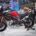 Suzuki V-Strom 1000 ABS side view from Auto Expo 2014