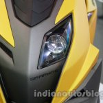 TVS Graphite concept headlamp detail live