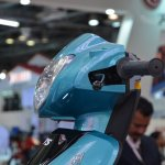 TVS Scooty Zest 110 cc headlamp side view from 2014 Auto Expo