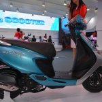 TVS Scooty Zest 110 cc profile from 2014 Auto Expo