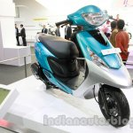 TVS Scooty Zest front three quarter live