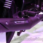 TVS Star City+ exhaust pipe at Auto Expo 2014