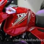 TVS Star City+ fuel tank and cowl at Auto Expo 2014