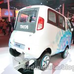 Tata Magic Iris Electric rear three quarters
