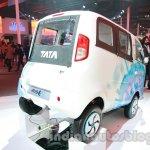 Tata Magic Iris Electric rear three quarters