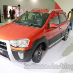 Toyota Etios Cross front three quarters at Auto Expo 2014