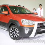 Toyota Etios Cross front three quarters right at Auto Expo 2014