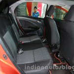 Toyota Etios Cross rear seat at Auto Expo 2014