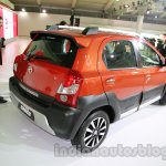 Toyota Etios Cross rear three quarters right at Auto Expo 2014