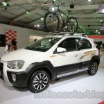 Toyota Etios Cross with accessories front three quarters at Auto Expo 2014