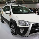 Toyota Etios Cross with accessories front three quarters left at Auto Expo 2014