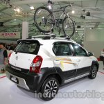 Toyota Etios Cross with accessories rear three quarters at Auto Expo 2014
