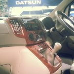 Updated Nissan Evalia Auto Expo 2014 wooden center console