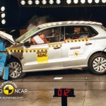 VW Polo with airbag NCAP test press shot
