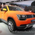 VW Taigun front three quarters at Auto Expo 2014