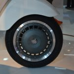 Vespa 946 front wheel at Auto Expo 2014