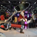 Vespa 946 handlebar right at Auto Expo 2014