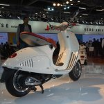 Vespa 946 rear three quarters at Auto Expo 2014