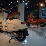 Vespa 946 rear three quarters left at Auto Expo 2014