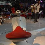 Vespa 946 seat at Auto Expo 2014
