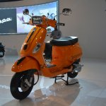Vespa S front three quarters right at Auto Expo 2014
