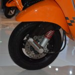 Vespa S front wheel at Auto Expo 2014