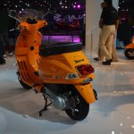 Vespa S rear three quarters left at Auto Expo 2014