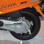 Vespa S rear wheel at Auto Expo 2014