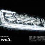 2014 Audi A8 Indian brochure matrix lights