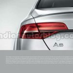 2014 Audi A8 Indian brochure taillight