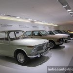 5 generations of BMW 3 series, along with the car that inspired it, the 1969 BMW 1600-2