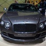Bentley Continental GT Speed front - Geneva Live