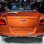 Bentley Continental GT Speed rear detail - Geneva Live