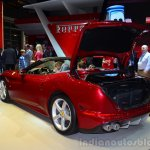 Ferrari California T rear three quarters boot open at Geneva Motor Show