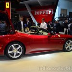 Ferrari California T rear three quarters left boot open at Geneva Motor Show